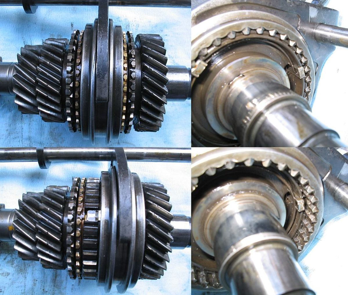 A worn or damaged synchronizer can fail to equalize speed and cause gears to grind.