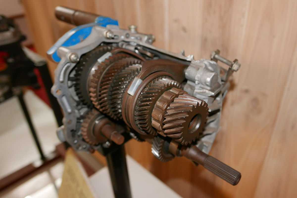 Excessively worn or damaged gears can grind when engaged.