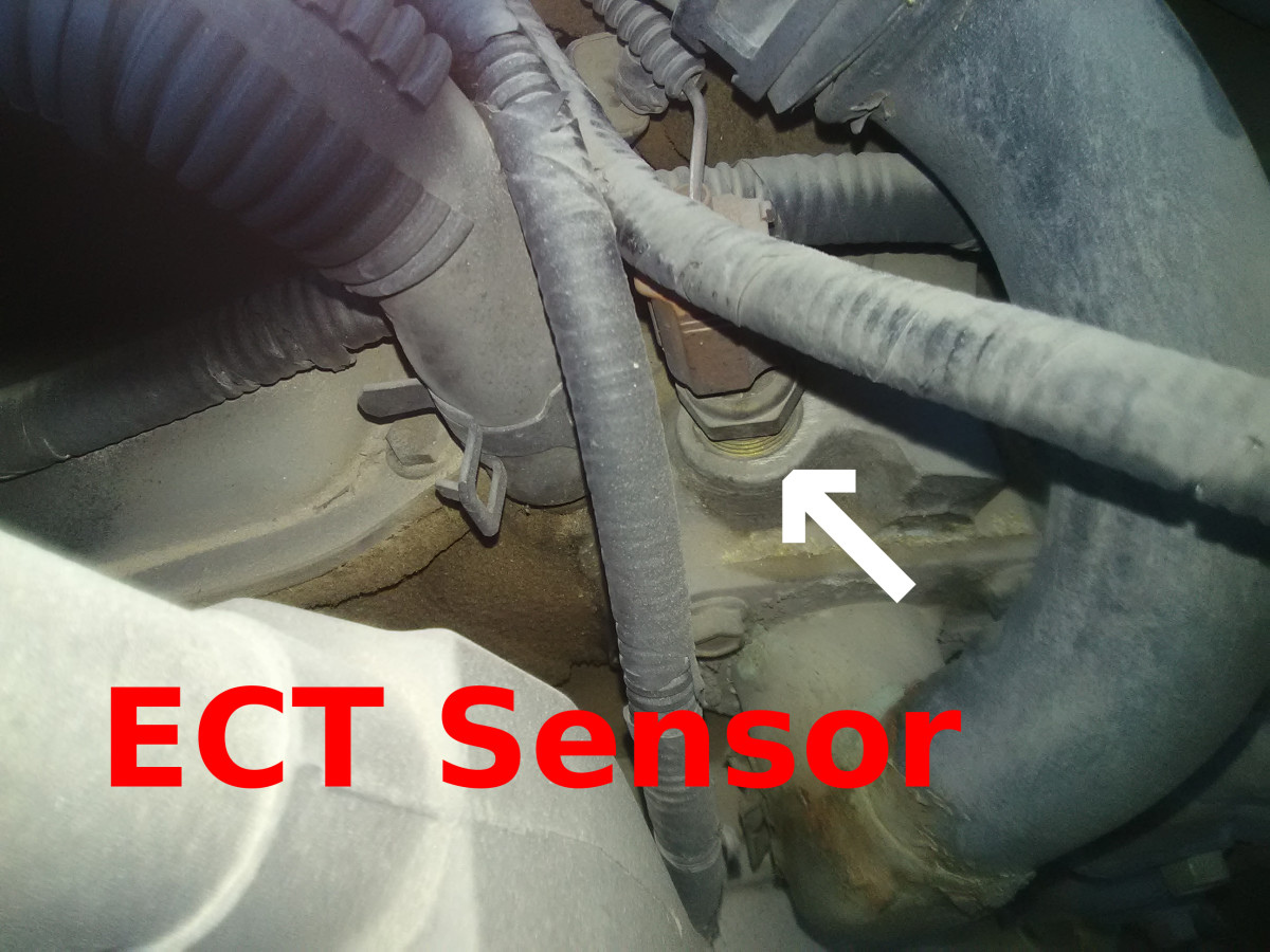A faulty ECT sensor is one of the most common sources of rough idle on a cold engine.