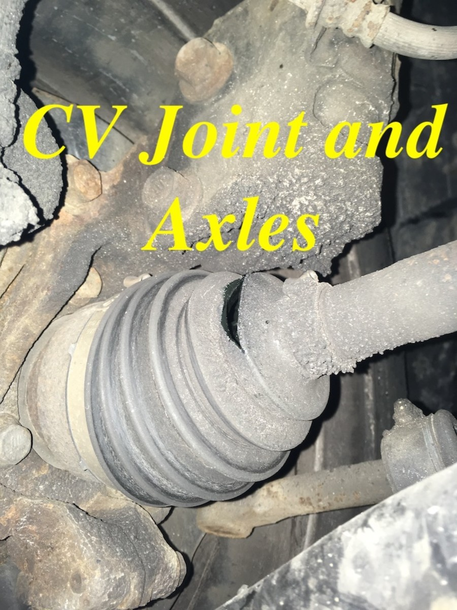 This CV joint boot has been leaking for a while.  You can see the grease that has been slung onto the bottom of the strut and peppered with sand and debris.