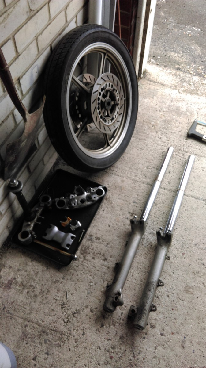 Time to overhaul the front forks