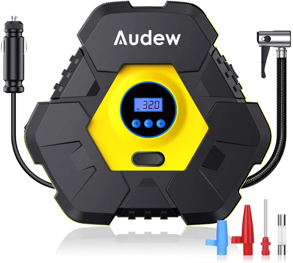 The Audew portable tire inflator