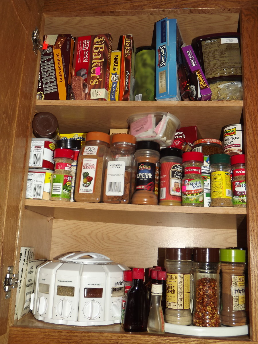 One of many odds and ends spice cabinets.