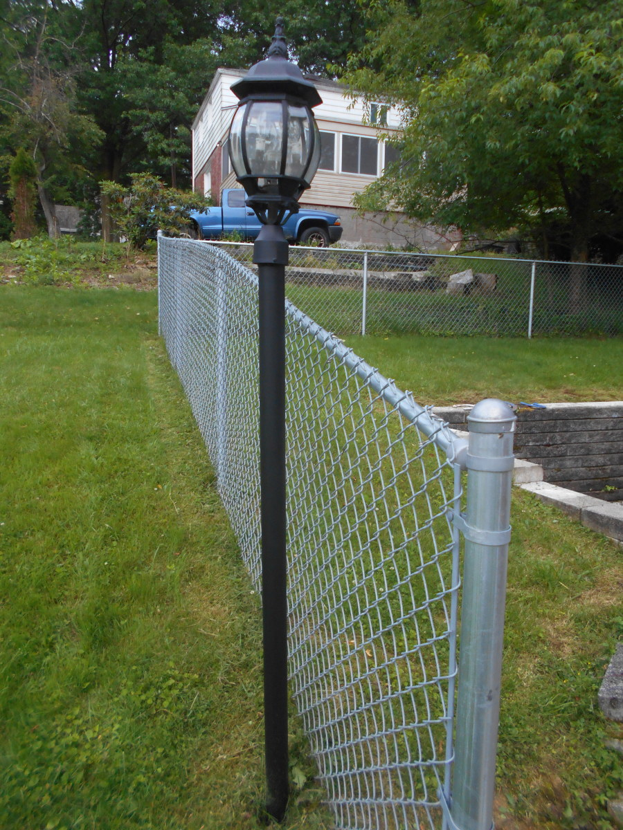 How To Paint Outdoor Metal Railings And Light Poles