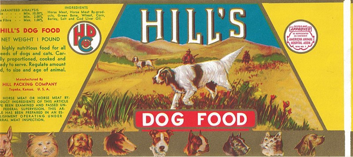 Dog food labels are required by law to list ingredients and the percentage proportions of key nutrients