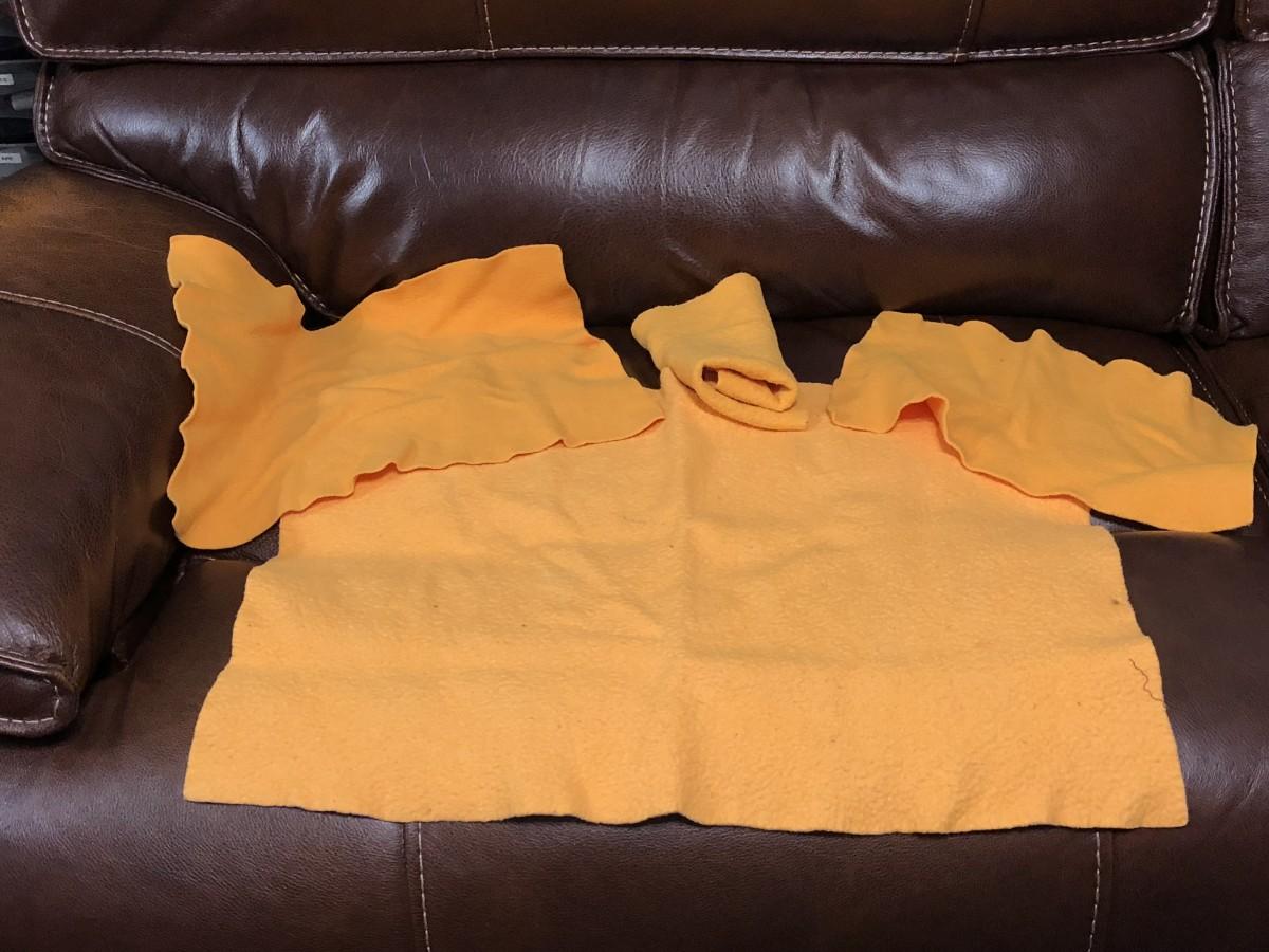 ShamWow cloths, cut in various sizes