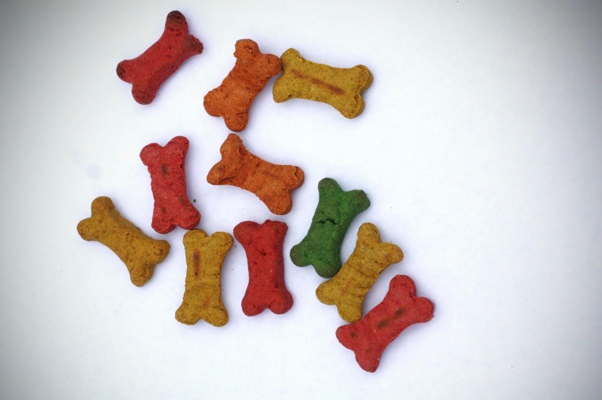 Many dog treats are artificially coloured