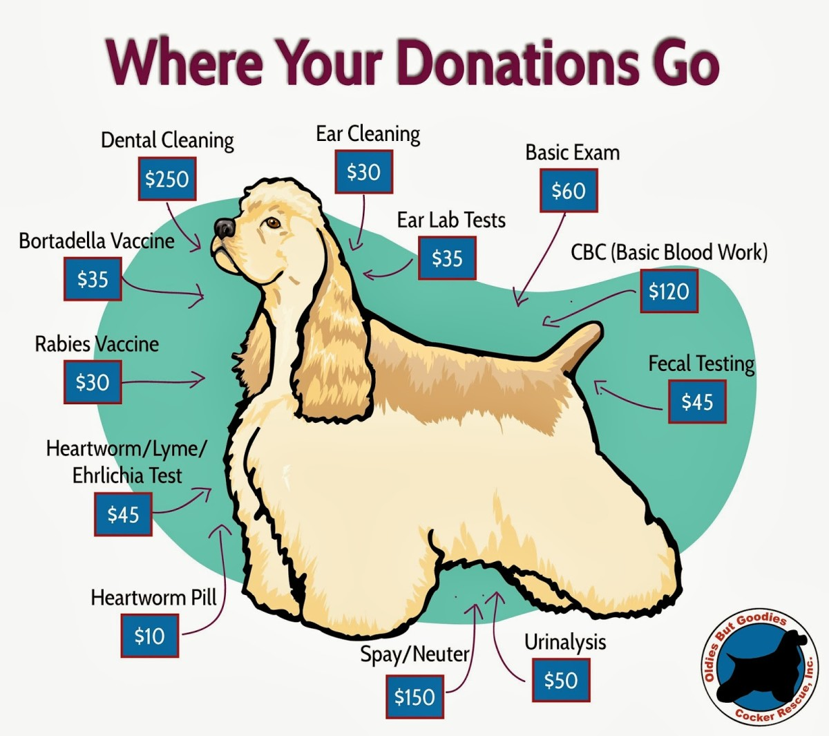 Just a peek at what medical expenses that the rescue typically pays for.