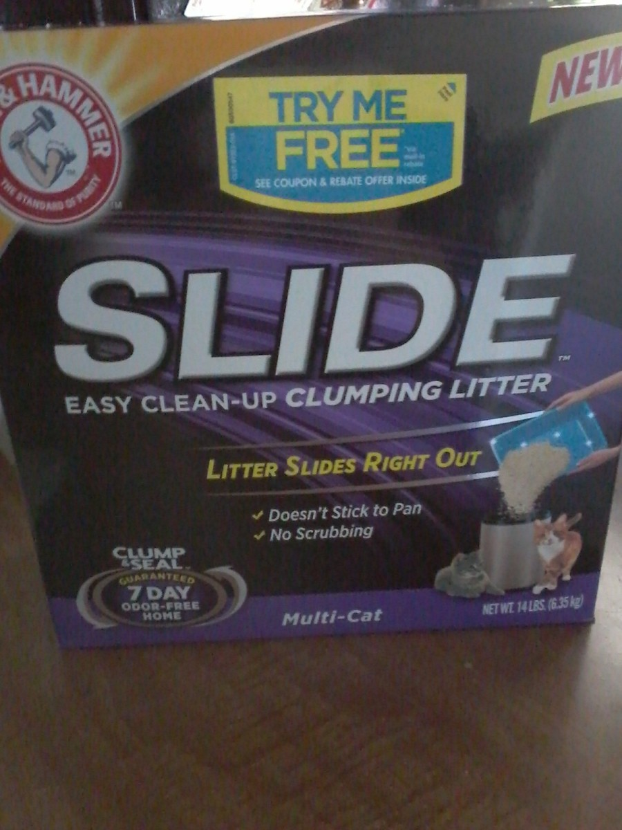"""Slide"" Clumping Litter"
