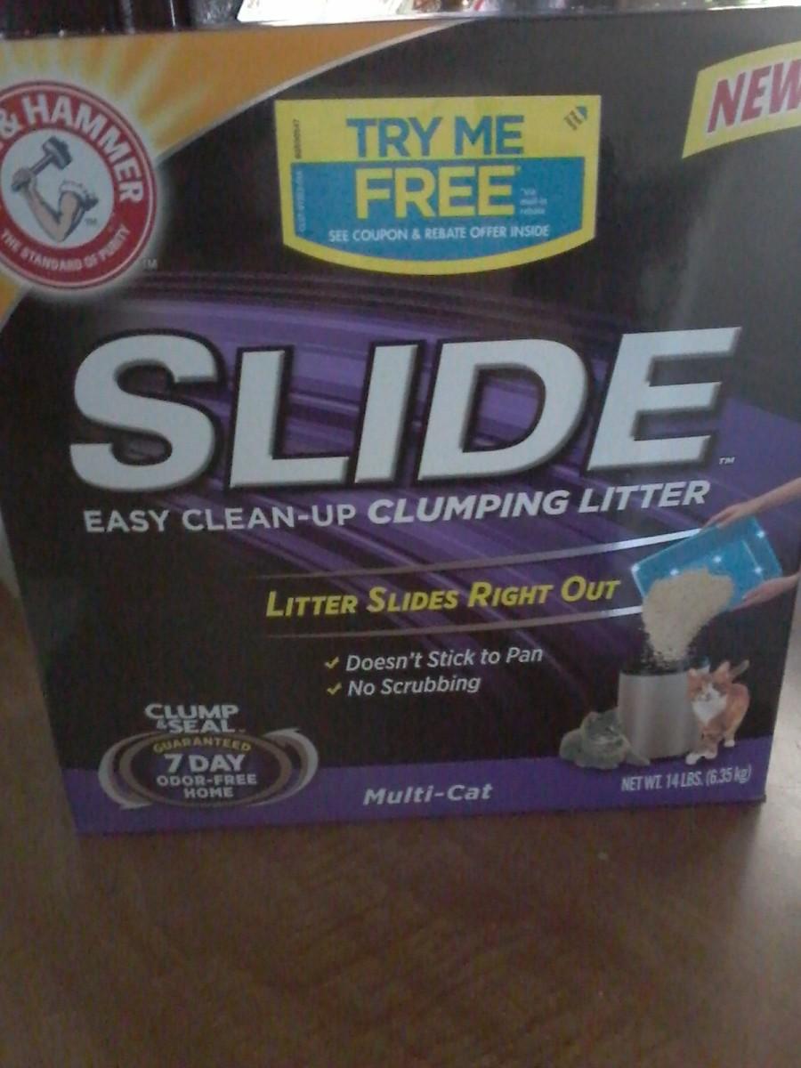 """""""Slide"""" Clumping Litter"""