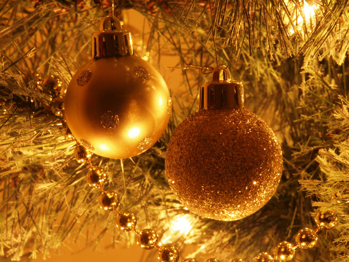 Glass or delicate baubles can be a hazard to dogs