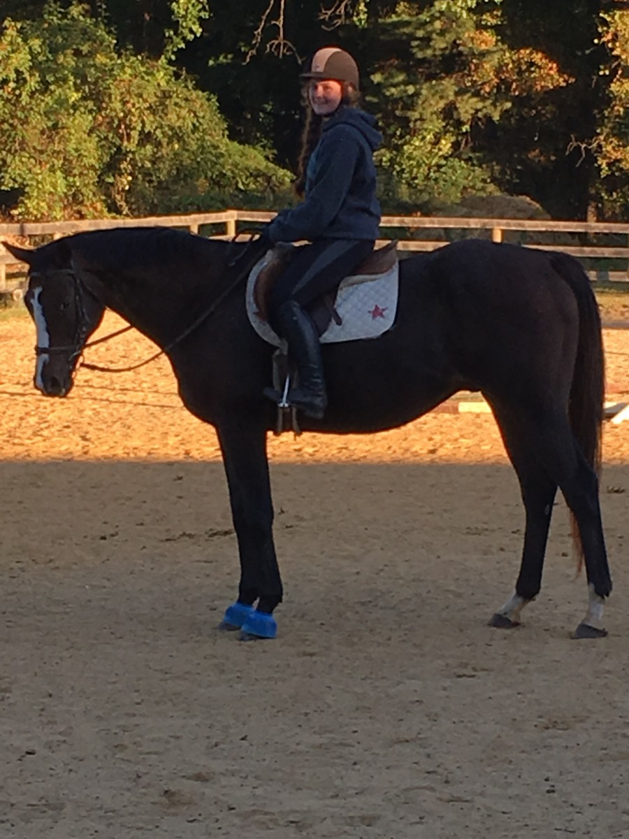 Learning to ride in a proper balanced seat is imperative for success in horsemanship!