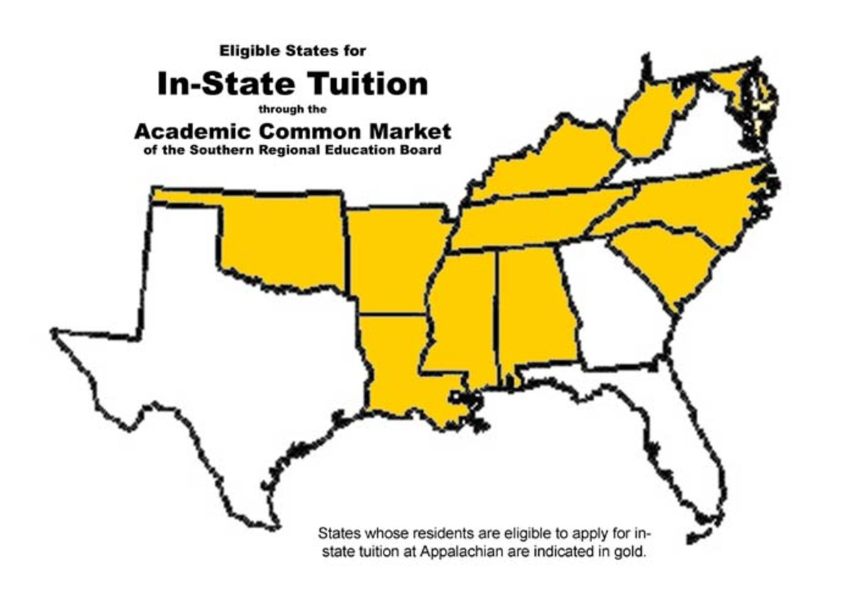 Some groups of states offer in-state tuition to neighbors.