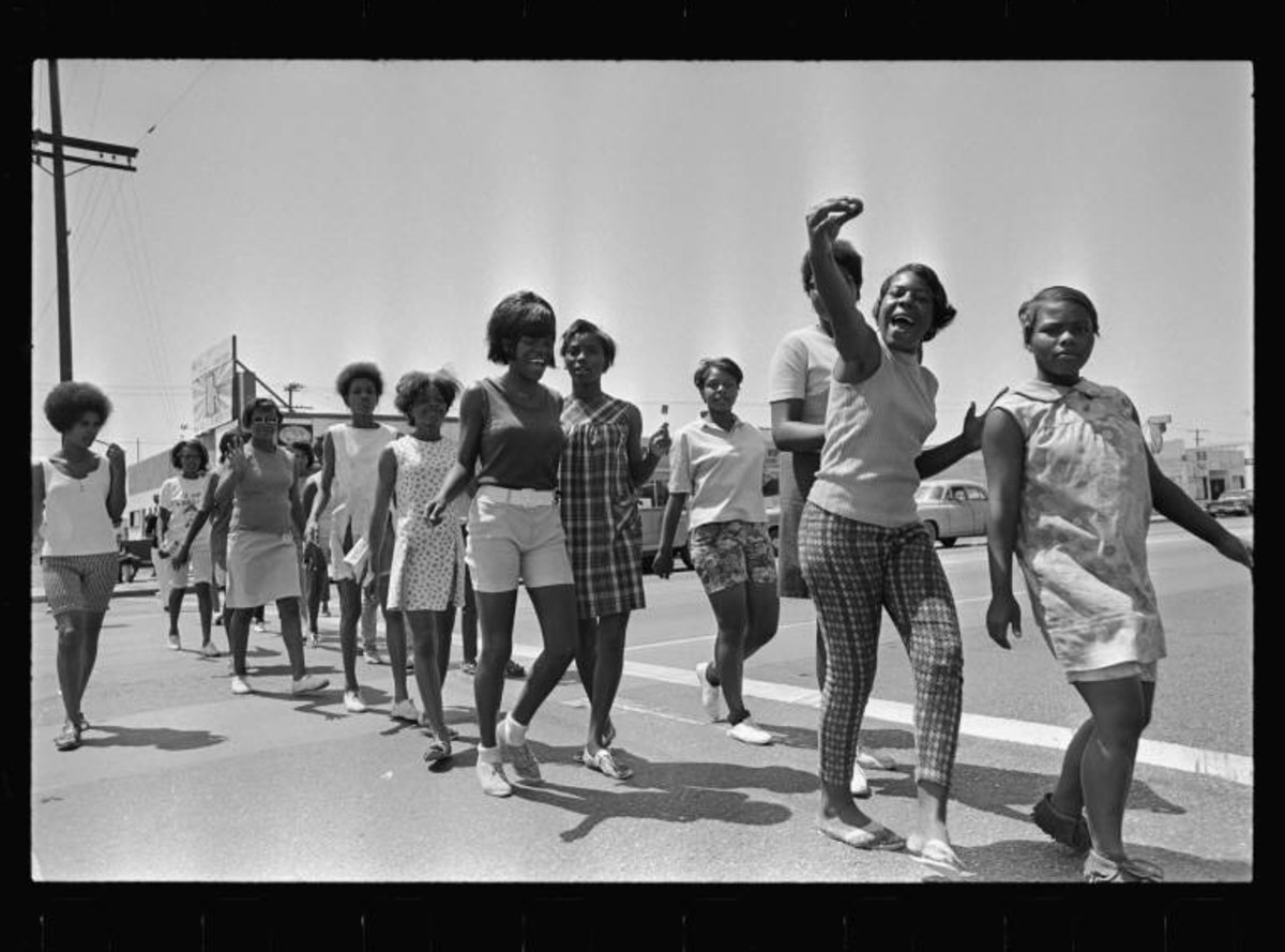 Walking & Singing to Work in the Summer of 1967. Watts/LA.