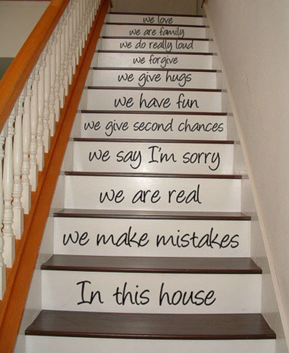 Not all projects will be small—a larger project can be something like these stair decals.