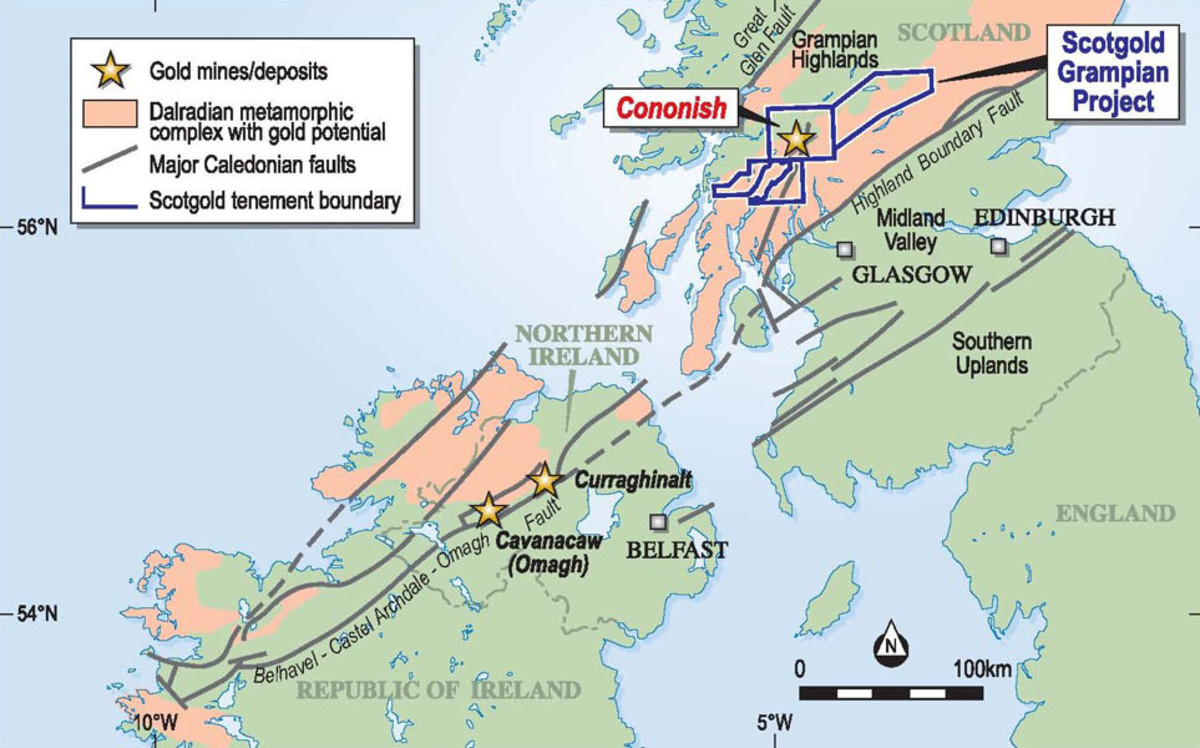 Gold Panning, Prospecting and Mining in Scotland, UK