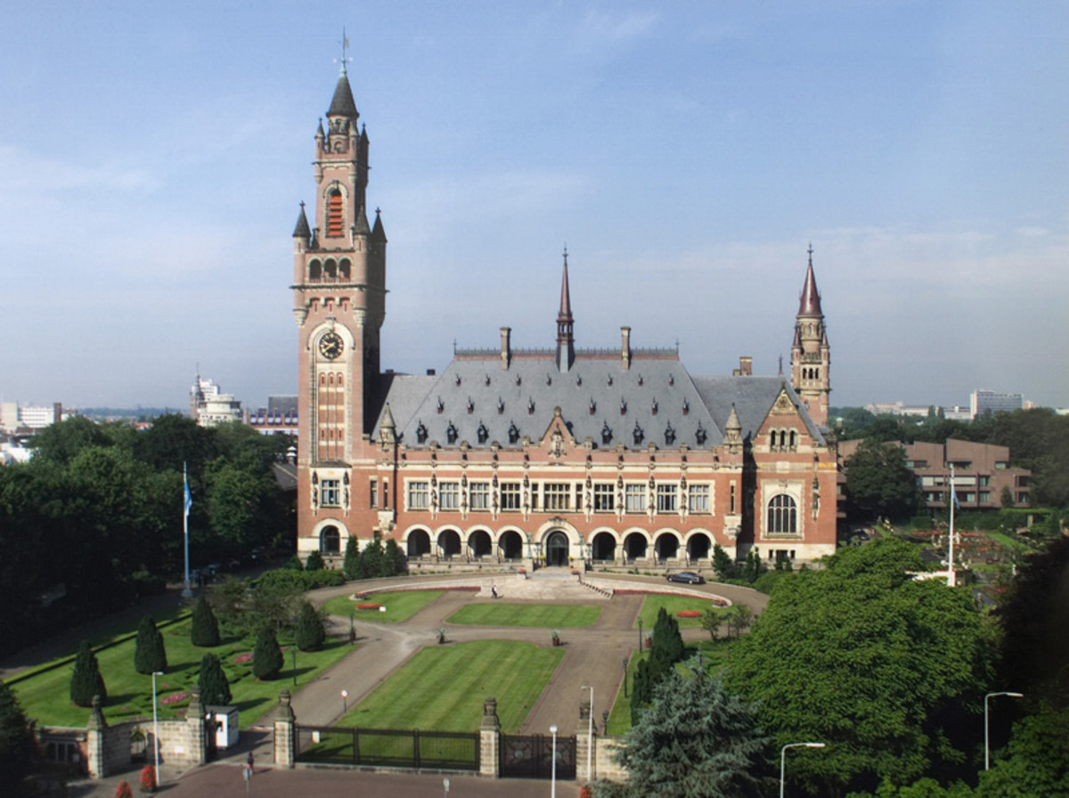 The Peace Palace in The Hague, Netherlands: International Court of Justice.