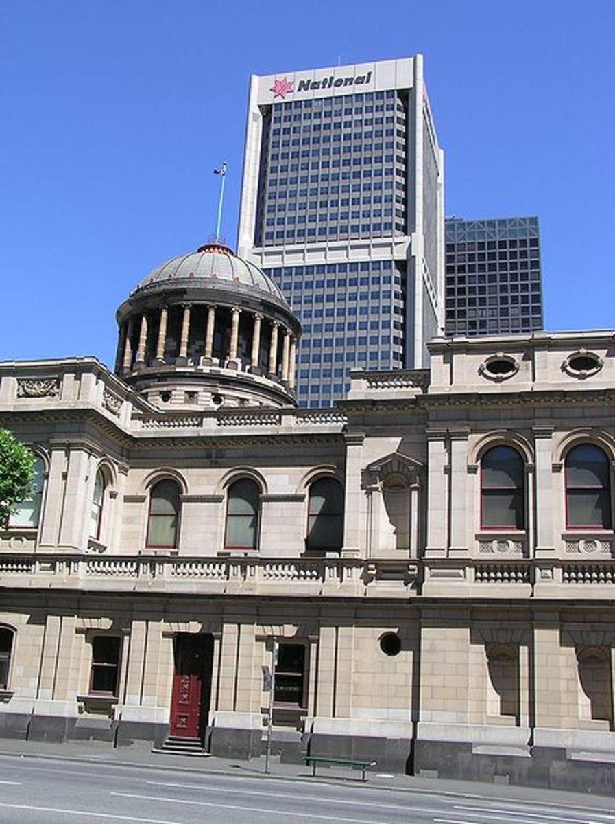 Melbourne, William Street. Supreme Court, North Side.