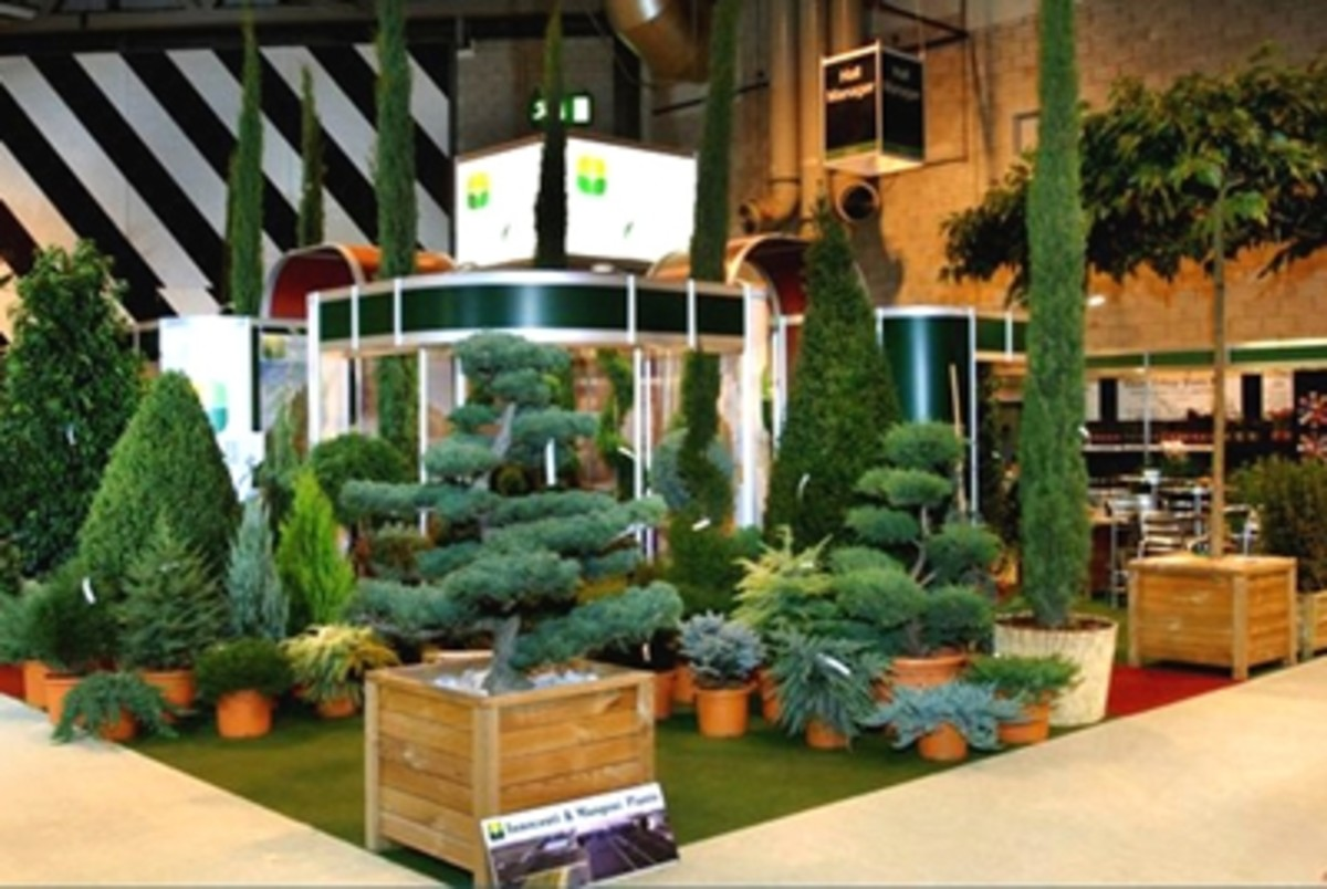 This image of the Wyvale Nurseries Stand at the NEC shows how a modular stand (in this case from Clip Display) can look as good as a bespoke exhibition stand.