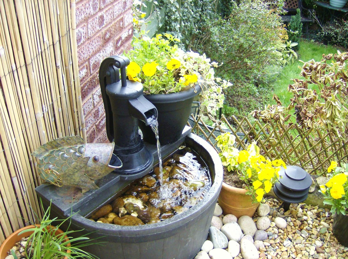 A water feature can make any outside space seem peaceful and attractive.