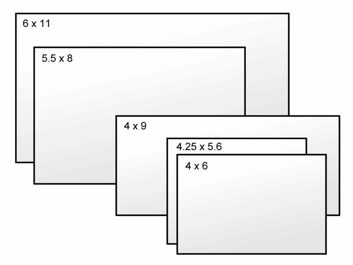 Postcard Size Comparison