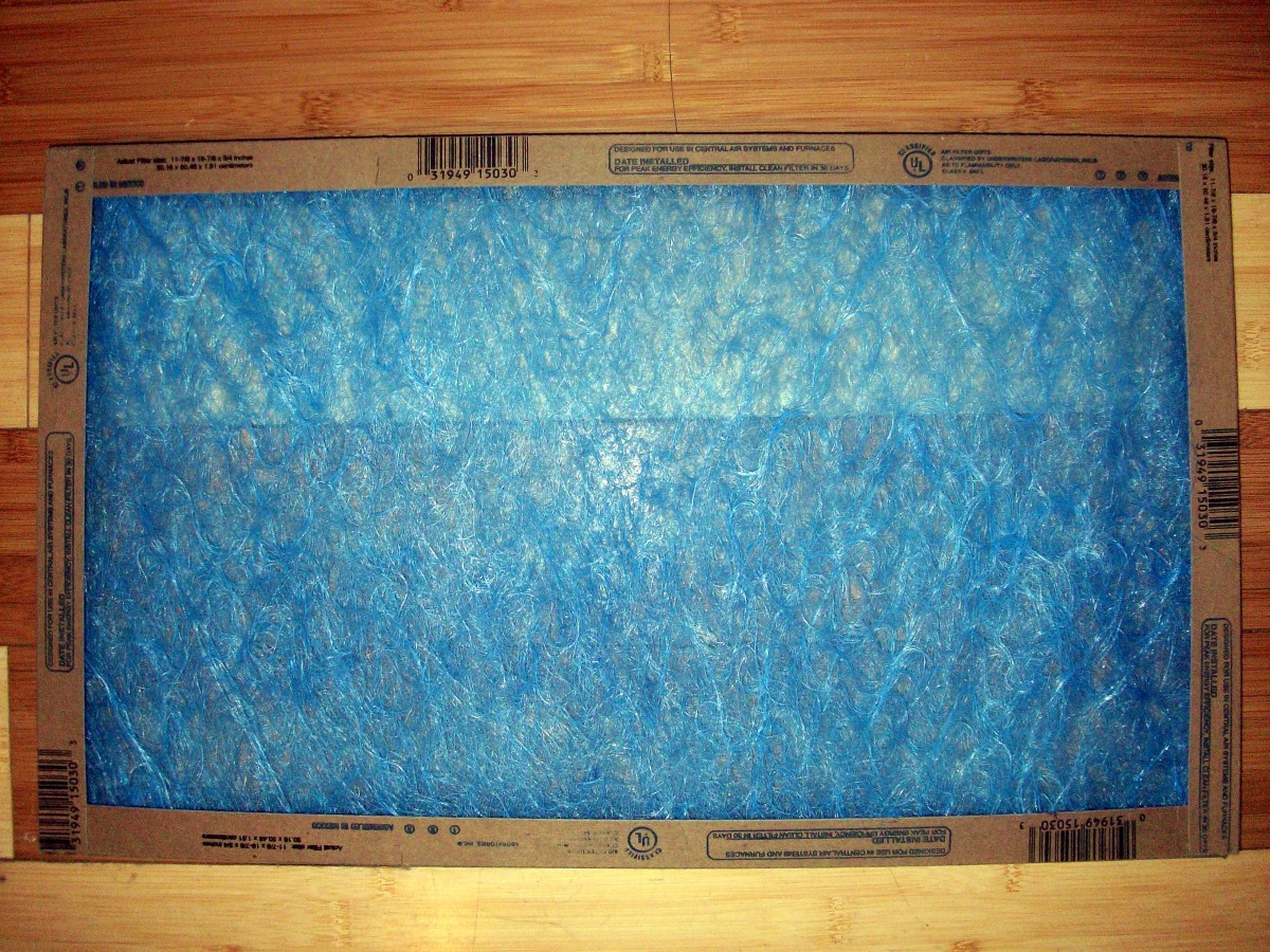 Don't let your furnace filter get dirty!  Keep it clean like this one