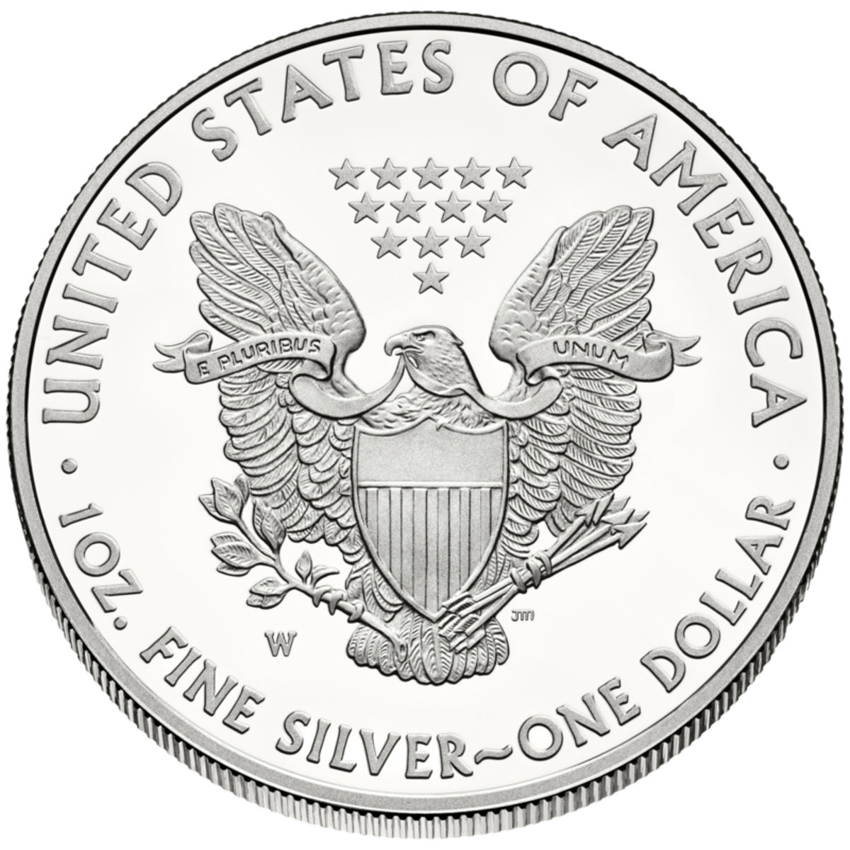 Reverse side Liberty $1 United States silver coin