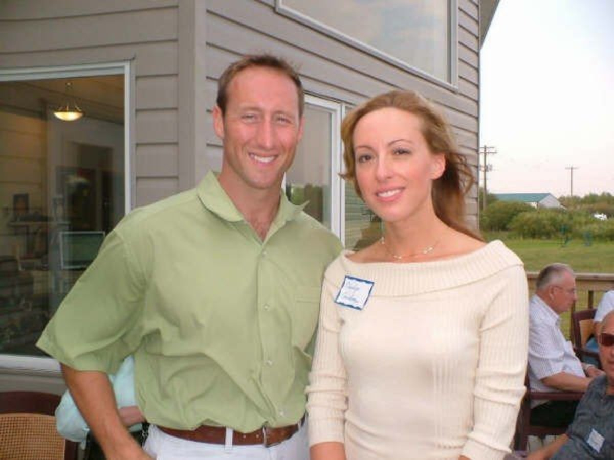 MP Peter Mackay and myself at a riding association BBQ
