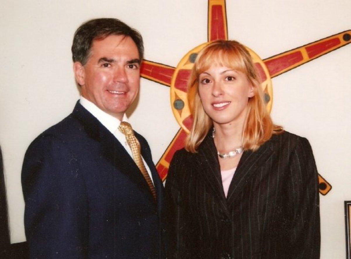 Me and Jim Prentice when I was an Intern for his office at Indian Affairs and Northern Development.