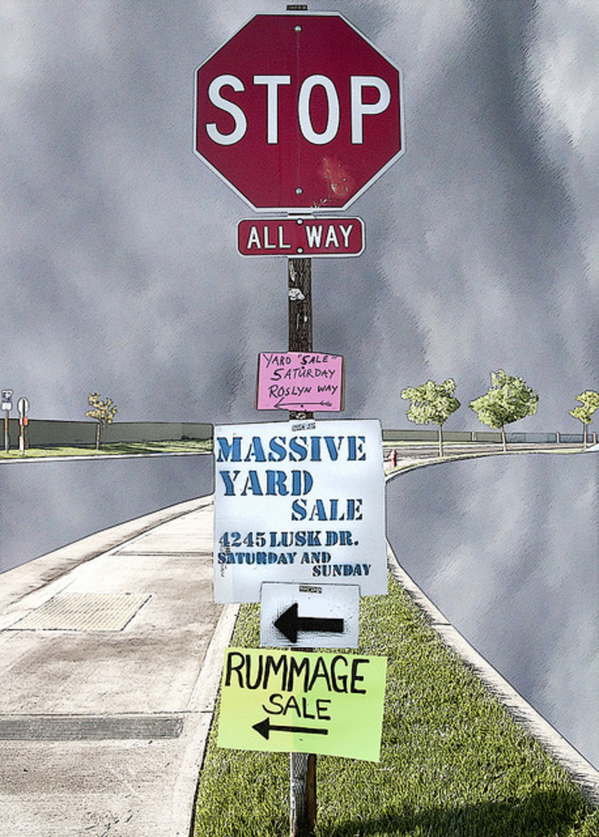 Proper signs placed in heavy traffic locations are key to a successful yard/garage sale.