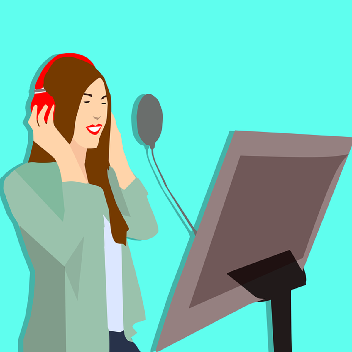 Try to be non-judgemental when you record your voice.  Accept your unique sound knowing your voice can be improved.