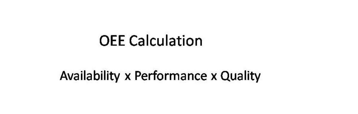 如何计算你的OEE