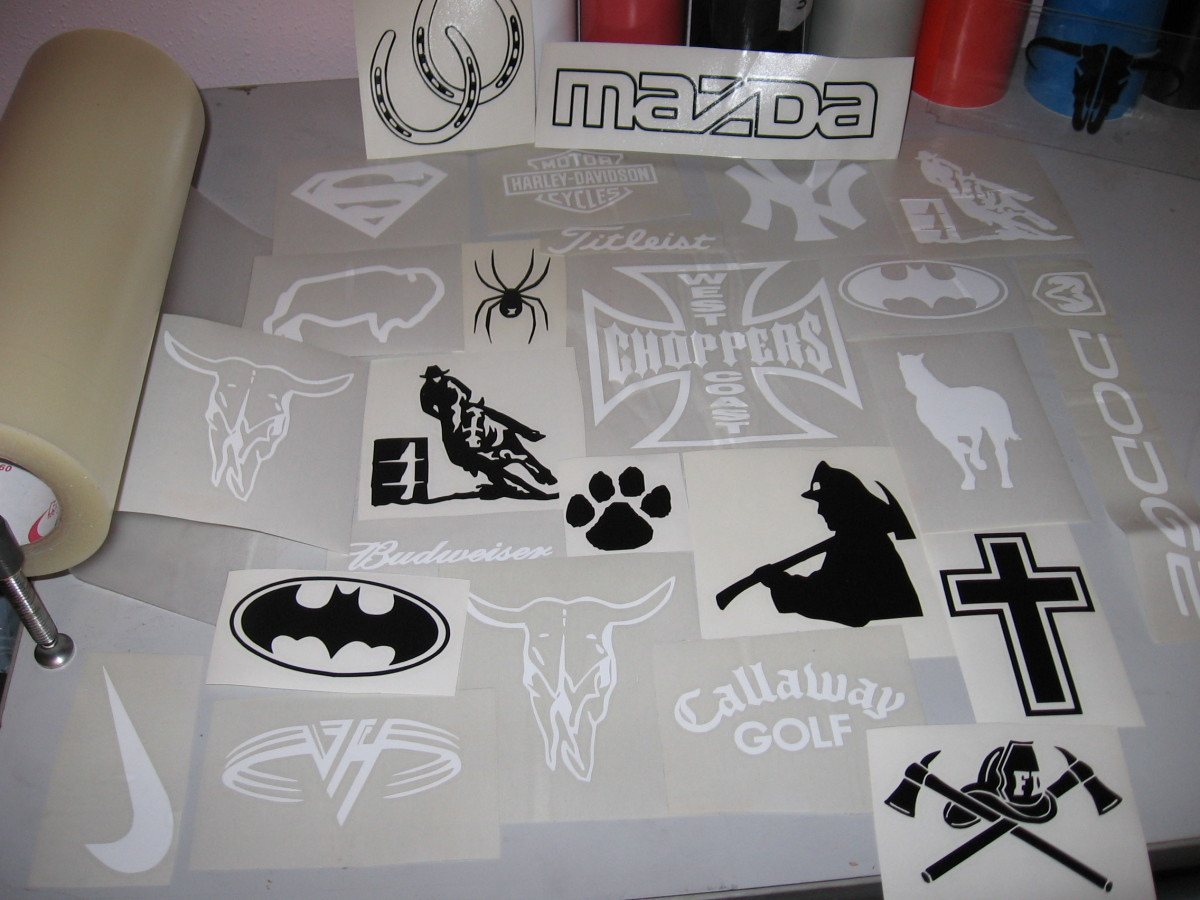 Lot's of Vinyl Decals to sell