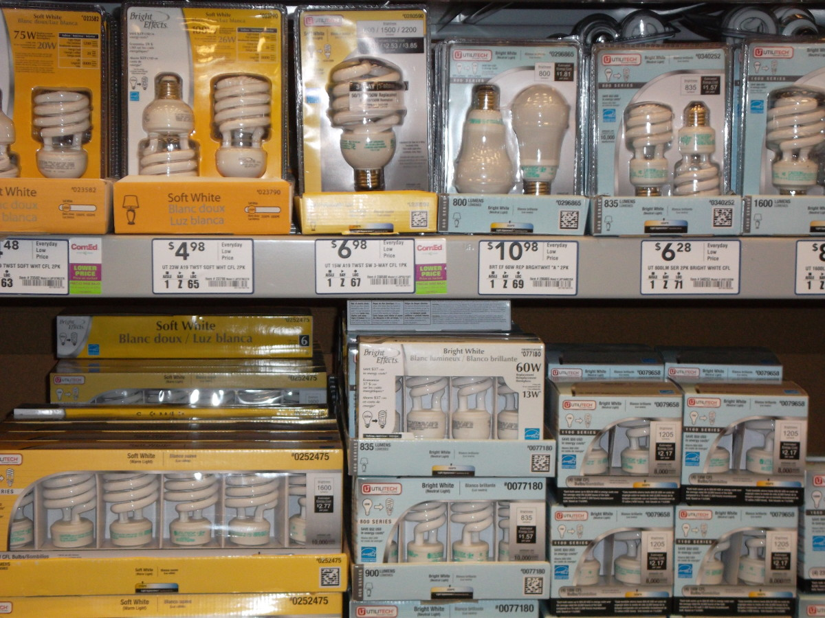 CFLs lost many times longer than incandescent bulbs and use less electricity.