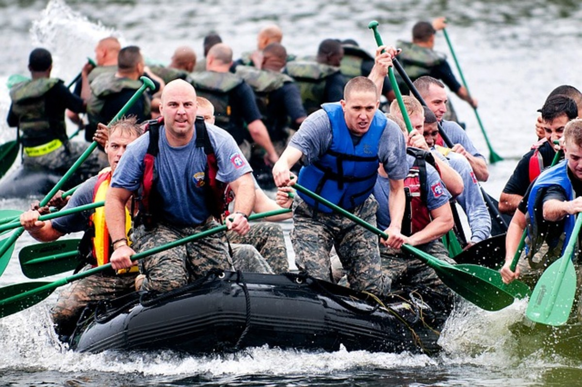 Teamwork is a skill that has to be practiced as a group. Military units rely on each other in life-and-death situations, intensifying feelings of camaraderie and interdependence.