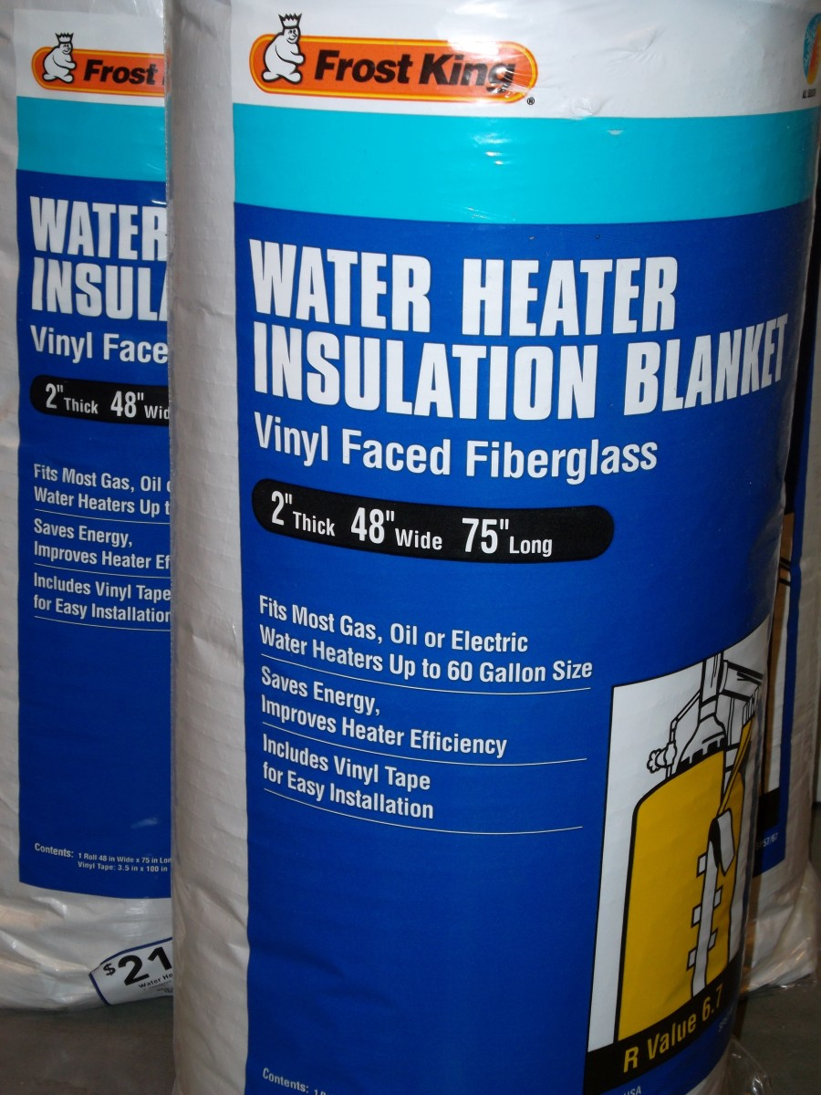 A water heater insulation blanket is a low-cost, simple way to conserve energy.