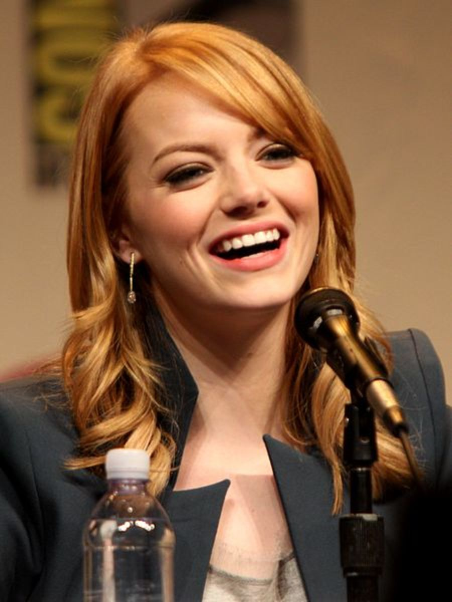 Emma Stone speaking at Wondercon 2012 in Anaheim, California