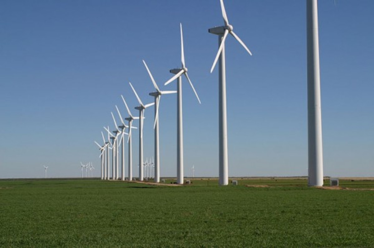 Turbines on a Wind Farm