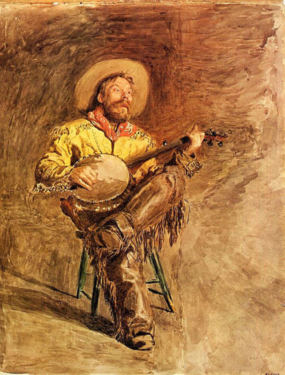 Cowboy Singing by Thomas Eakins, circa 1890