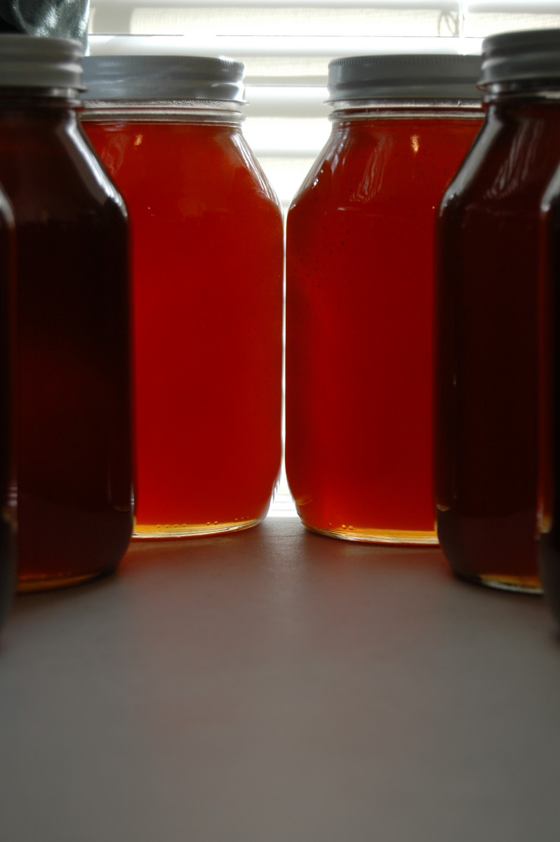 Quarts of honey.