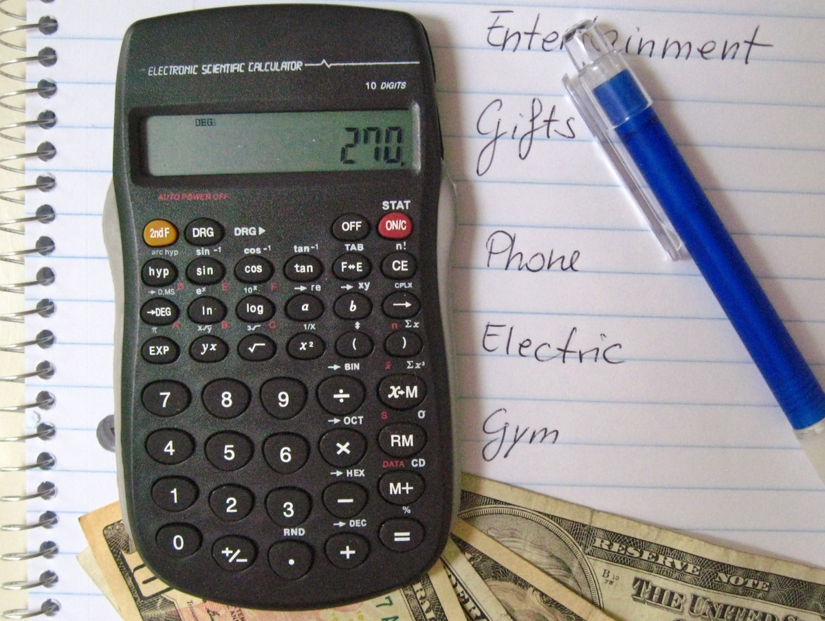 To start a budget, first you go through all your bills and expenses and organize them into categories.