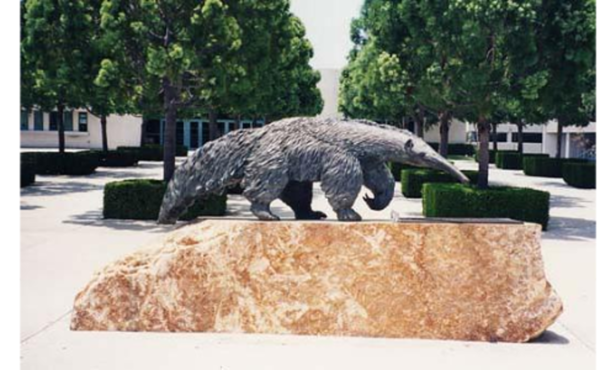 Giant Anteater Sculpture by Billy Fitzgerald at University of California, Irvine Bren Events Center.