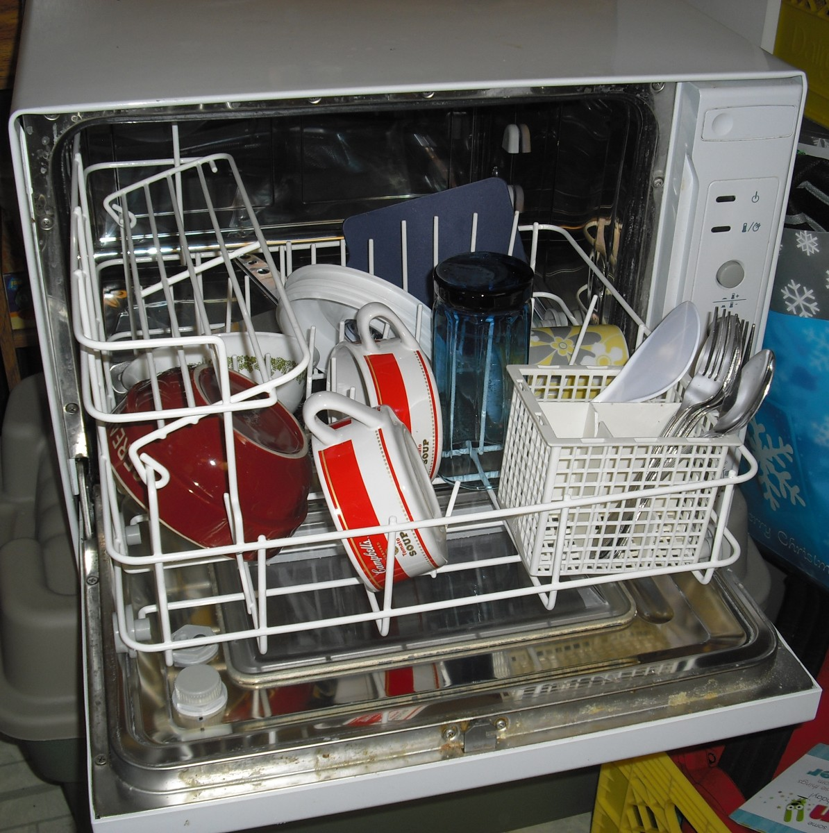 Stuffed animals, plastic action figures and other toys, baseball caps, tennis shoes and hairbrushes come out squeaky clean after a trip in the multi practical Dishwasher.