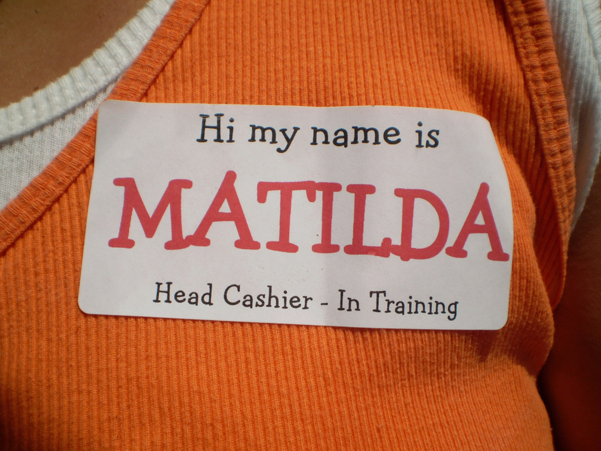 Feel free to add commentary to the name tags for fun!