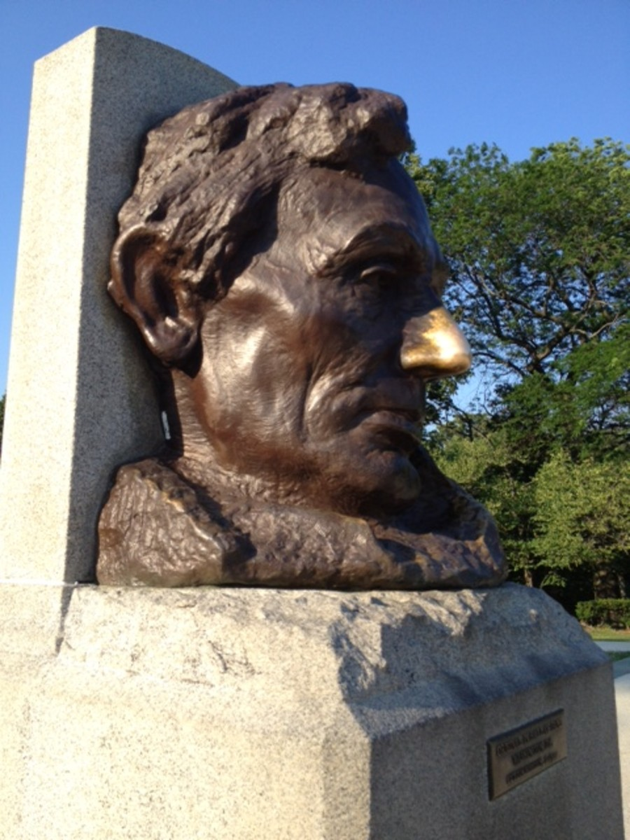 There is a myth that rubbing the nose of Abraham Lincoln on this statue will bring good luck.