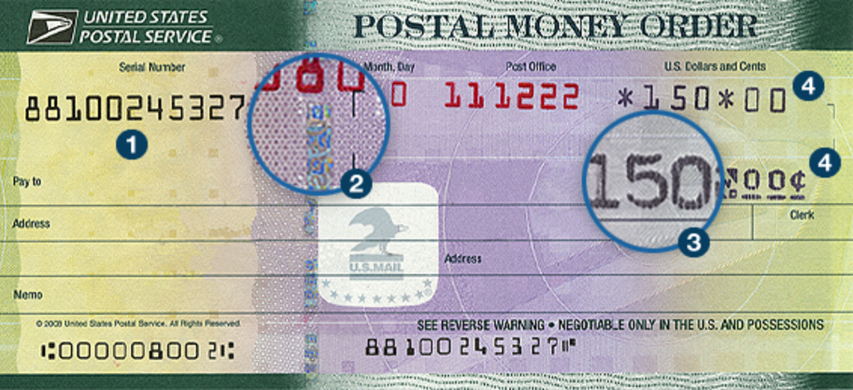 These are the areas that you need to check to see if the money order is legit.