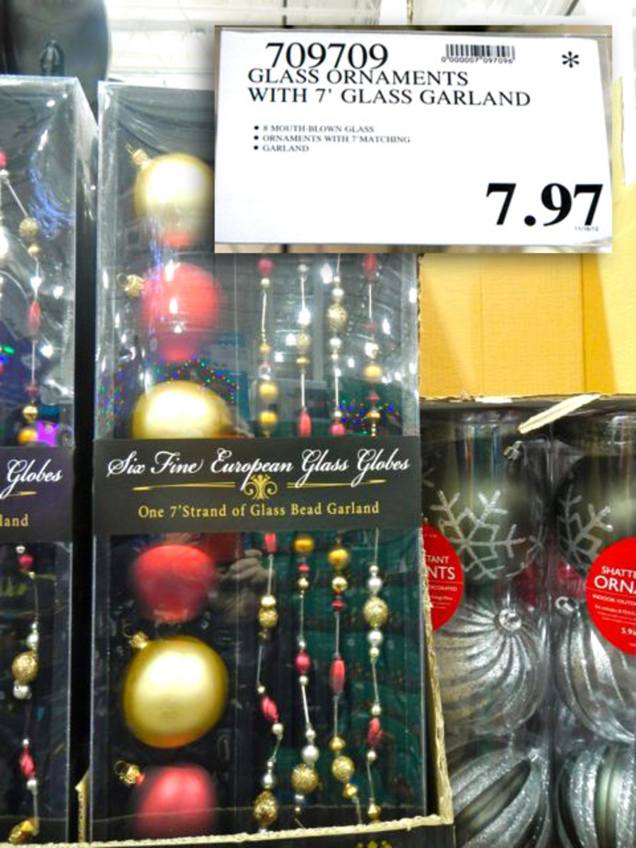 Glass Christmas Globes and ornaments can be sold out by the end of November.  So watch the inventory levels and buy if they get low as long as they have been marked down.