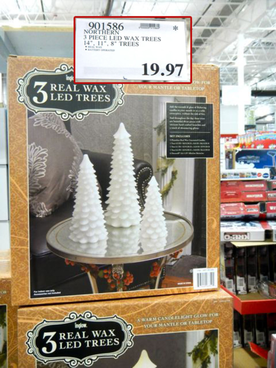 These LED Lighted Wax Candle Set - On Amazon now at $37.97 But Costco decided to raise them back to their Original late in November.  Checking another store they still had them reduced.