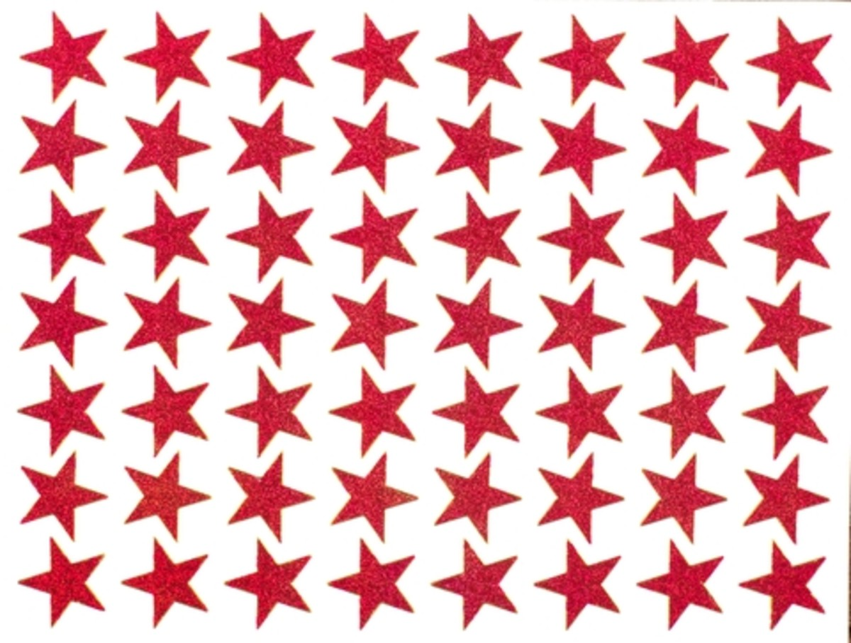 Star stickers signify the the items on the list are either completed or carried forward to another day.