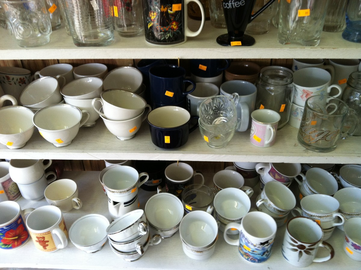 Mugs at a Local Thrift Store
